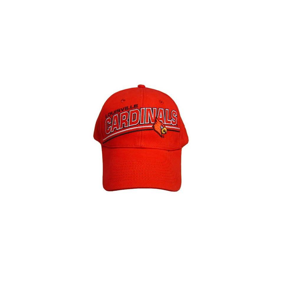 NCAA OFFICIAL LOUISVILLE CARDINALS RED CAP HAT NEW ADJ