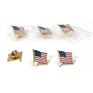 American Flag Pin 6Pcs
