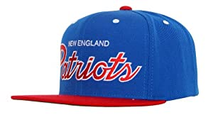 Mitchell & Ness New England Patriots 2 Tone Script Snapback Hat Adjustable by Mitchell & Ness