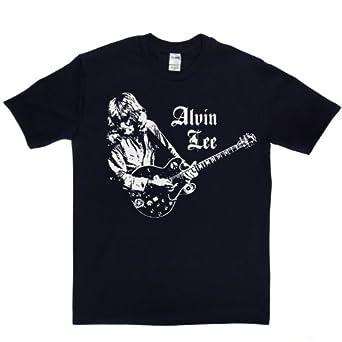 Alvin Lee T-shirt (XXXXX-Large Navy/white)