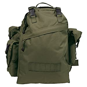 Waterproof Army Combo Rucksack Hiking Camping 40L Olive from MFH