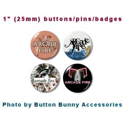 """Arcade Fire 1"""" Button / Pin / Badge Set"""