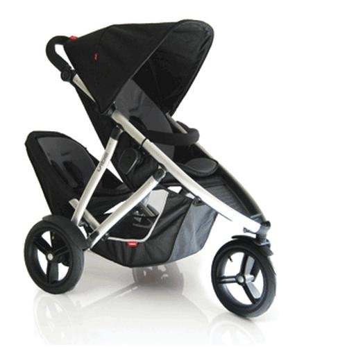 Brand NEW! Phil & Teds Vibe Buggy 2 WIth Doubles Kit: Black