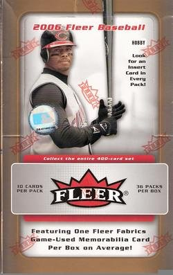 2006 Fleer Baseball Cards Unopened Hobby Box (36 packs/box, 10 cards/pack)