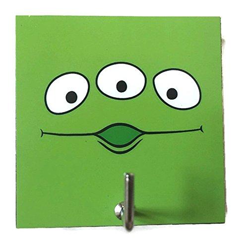 agility-bathroom-wall-hanger-hat-bag-key-adhesive-wood-hook-vintage-green-alien-toy-storys-photo