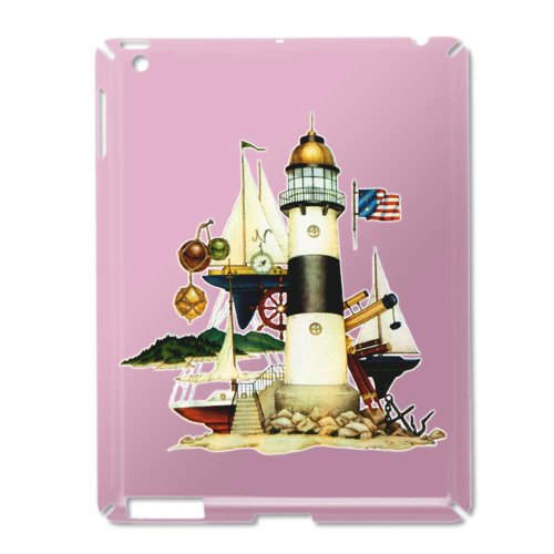 Ipad 2 Case Pink Of Nautical Vintage Lighthouse Telescope Steering Wheel Anchor And Ships