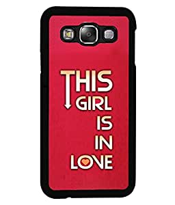Printvisa 2D Printed Quotes Designer back case cover for Samsung Galaxy E5 SM - E500F - D4617
