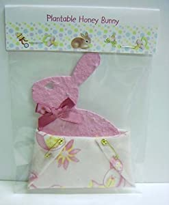 plantable bunny baby shower favor with diaper party