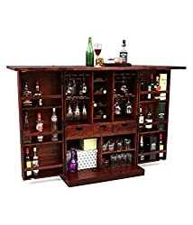 Altavista Diamond Bar Cabinet (Teak Finish)