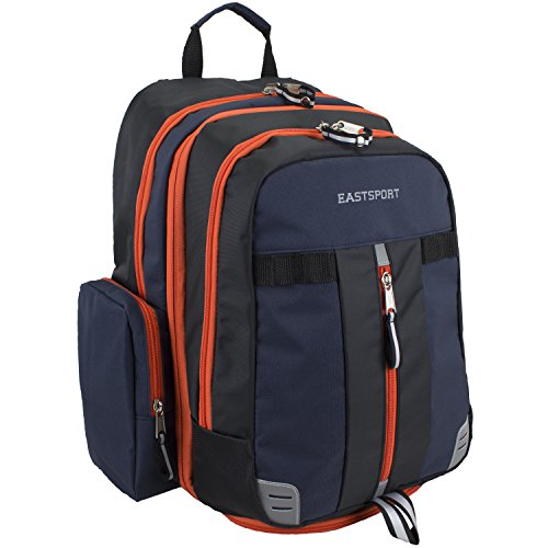 eastsport-titan-orange-navy-titan-backpack