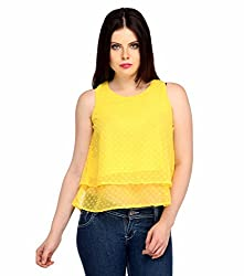 Snoby Yellow Net Top (SBY1045)