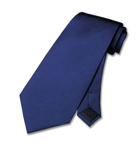 100% SILK Solid NAVY BLUE Neck Tie