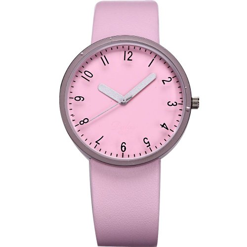 AMPM24 Fashion Women Lady Pink Dial Leather Sport Quartz Wrist Watch Gift