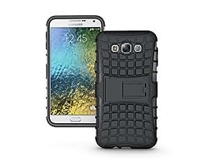 scratch guard+Cubix Defender Series Dual Layer Hybrid TPU + PC Kickstand Case Cover for Samsung Galaxy E7