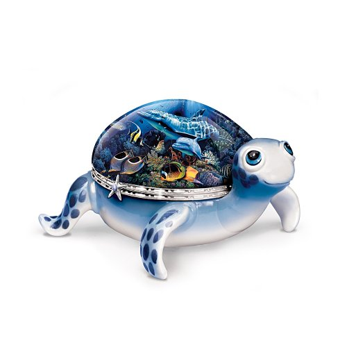 Ocean Baby Collectible Turtle Music Box With Sea Life Art: Perfect Turtle Lover Gift by Ardleigh Elliott
