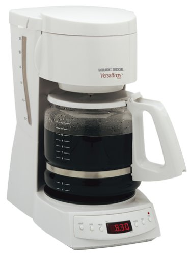 Black And Decker Spacemaker Coffee Maker White : Spacemaker Coffee Maker: Black & Decker DCM1350 VersaBrew Plus 12-Cup Programmable Coffee Maker ...