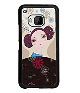 Fuson Nice Girl Back Case Cover for HTC ONE M9 - D3923