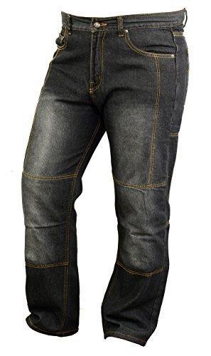 Moto Kevlar doublé Jeans avec Armures Résistant À L'Abrasion - W32 L30