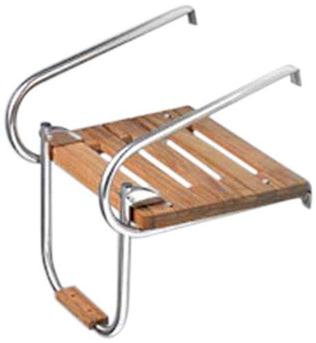 Whitecap Teak Boat Swim Platform with Ladder for Inboard/Outboard Motors