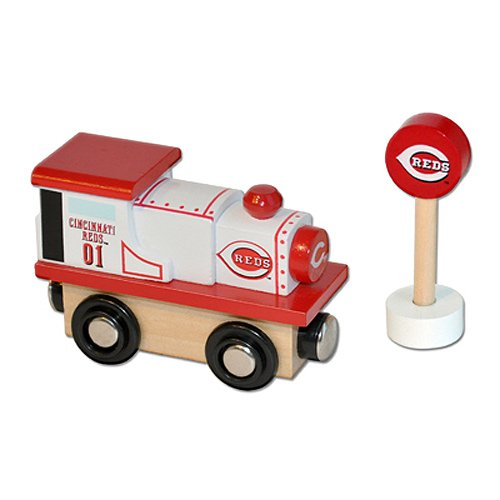 MLB Cincinnati Reds Wood Train - Engine