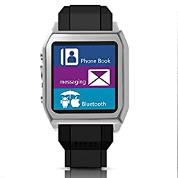 Scinex® SW30 16GB Bluetooth Smart Watch GSM Phone - US Warranty (Silver/Black)