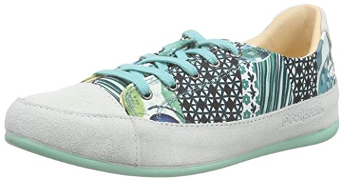 Desigual Happy Sneakers, Donna, Turchese (5024 Turquesa Palo), 36