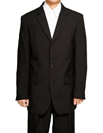 Brand New Men's Three Button Single Breasted Black Dress Suit (36 Short)