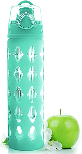 20-oz-glass-water-bottle-fruit-infuser-with-silicone-sleeve-perfect-as-yoga-water-bottle-for-hiking-