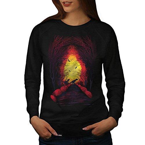 Raptor-Dinosaure-La-vie-Femme-NOUVEAU-Noir-Sweat-Shirt-S-2XL-Wellcoda
