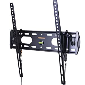 """VideoSecu TV Wall Mount Tilt Low Profile Ultra Slim Television Mount Bracket for Most 26""""- 47"""" LED LCD Plasma TV, Some up to 55"""" TV with VESA 200x100 to 400x400 1FE"""