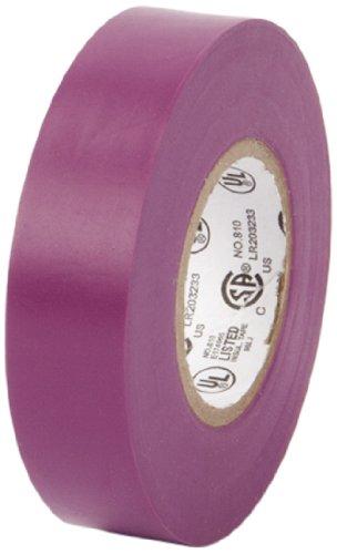 "Pratt Plus 001P3466Ftpur Vinyl General Purpose Standard Electrical Tape, 7 Mil Thick, 22 Yds Length X 3/4"" Width, Purple (Pack Of 10)"
