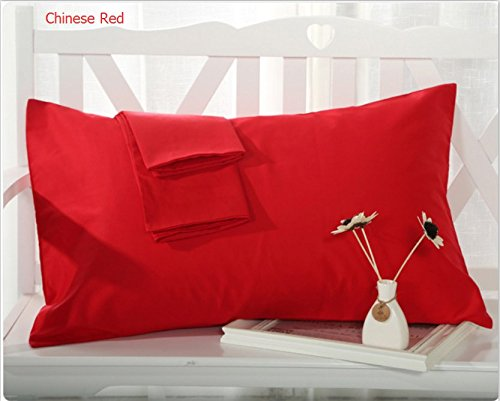 "Buy MoonRest - %100 Cotton Body Pillow Pillowcase w/ Zipper 21"" X 55"" (Red)"