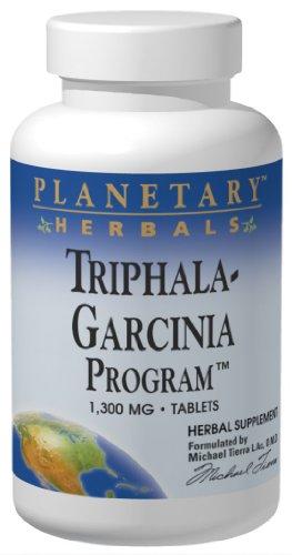Planetary Herbals Triphala-Garcinia Program, 1180 mg, Tablets, 120 tablets (Pack of 2)