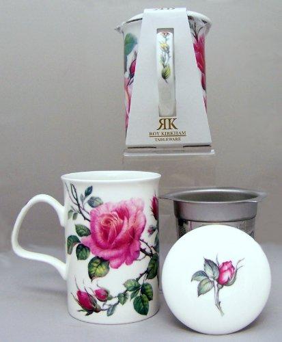 Roy Kirkham English Roses Mug With Infuser & Lid