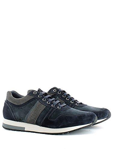 Sneaker Jenson in camoscio blu