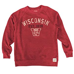 Wisconsin Badgers Adult Vintage Nameplate Crewneck Sweatshirt by Retro