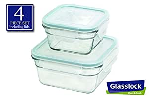 Snaplock lid tempered glasslock storage containers 4pc anti spill microwave oven - Anti spill wine glass ...