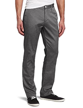 Volcom Men's Frickin Modern Stretch Chino Pant, Charcoal Heather, 28