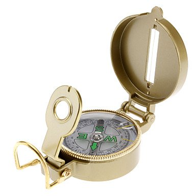 LLSai- Cool Retro Gold Color Lensatic Compass (Gold)