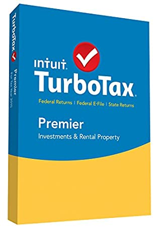 TurboTax Premier 2015 Federal + State Taxes + Fed Efile Tax Preparation Software - PC/Mac Disc