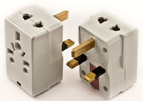 Vct Vp-117 Universal 2-Outlet Usa To Uk Plug Adapter Also Good For China, Ireland, Nigeria And More With Fuse Protection
