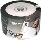 Fortis CD-R 52x imprimable blanc, 50 pièces en shrink