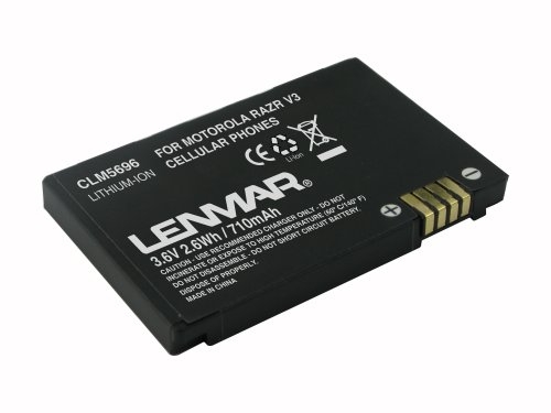 Lenmar Cell Phone Battery for Motorola MOTORAZR V3/RAZR V3m Series