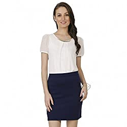 Chimpaaanzee Women Pencil Skirt Navy