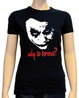 Coole-Fun-T-Shirts Damen T-Shirt Why So Serious ? Joker