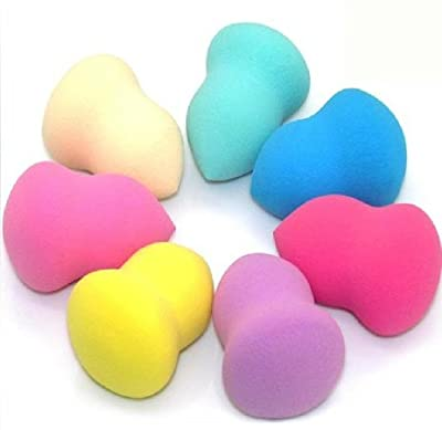 WAWO 6 pc Bottle Gourd Shape Pro Beauty Flawless Makeup Blender Foundation Puff Facial Sponges Colors by Random