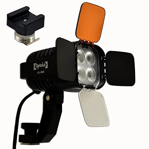 Opteka Vl-800 Ultra High Power Led Camcorder Video Light Kit With The Sa-S Adapter For Sony Active Interface Hot Shoe (Ais) Camcorders