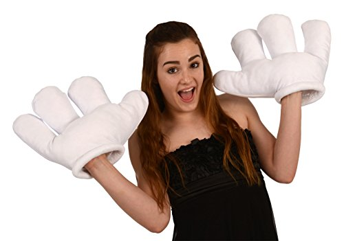 Jumbo Cartoon Hand White Gloves