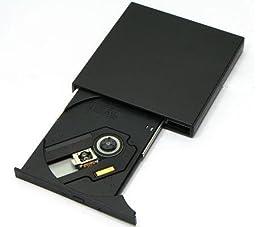 24x USB-Powered Super Slim External CD-ROM Drive (Black)