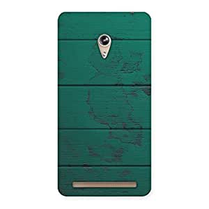 Green Wood Texture Print Back Case Cover for Zenfone 6